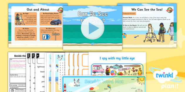 Geography: Beside the Seaside: Can You See the Sea? Year 2 Lesson Pack 6