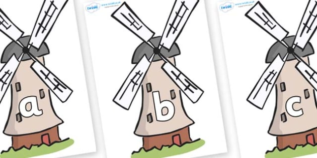 Phase 2 Phonemes on Windmills - Phonemes, phoneme, Phase 2, Phase two, Foundation, Literacy, Letters and Sounds, DfES, display