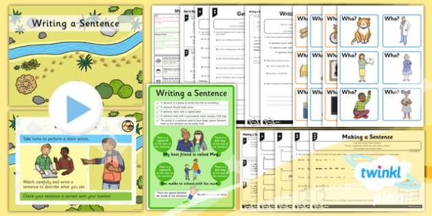 PlanIt Y1 SPaG Lesson Pack: Writing a Sentence - GPS, punctuation, word order, capital letter, full stop, finger spaces