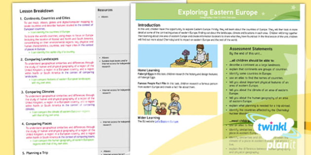 Geography: Exploring Eastern Europe Year 5 Planning Overview