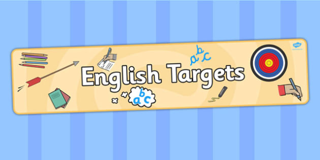 English Targets Display Banner - targets, english, display banner
