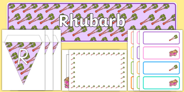 Rhubarb Display Pack - rhubarb, display pack, display, resources, plants and growth