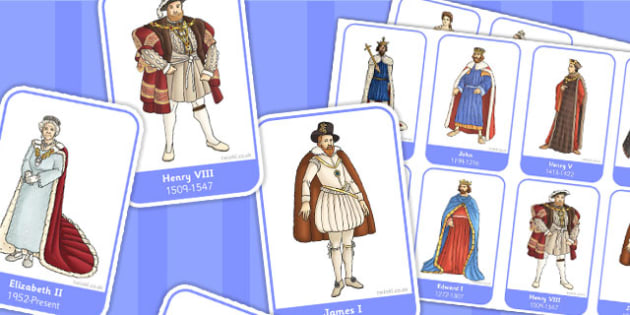 Significant British Monarchs Flashcards - monarch, flashcard