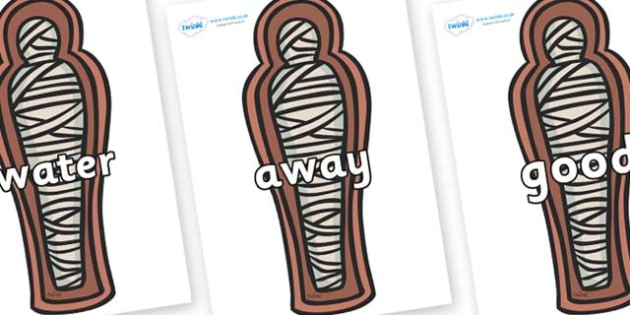 Next 200 Common Words on Mummies (Coffin) - Next 200 Common Words on  - DfES Letters and Sounds, Letters and Sounds, Letters and sounds words, Common words, 200 common words