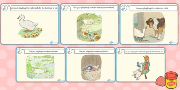 The Tale of Jemima Puddle-Duck Playdough Mats - jemima puddle-duck