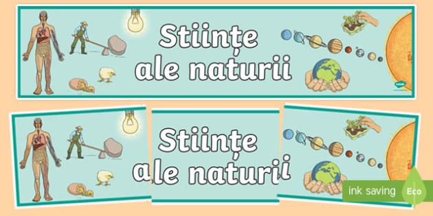 Stiințe ale naturii CCD - Banner