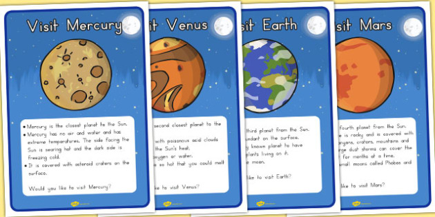 Space Travel Agents Role Play Destination Posters - australia