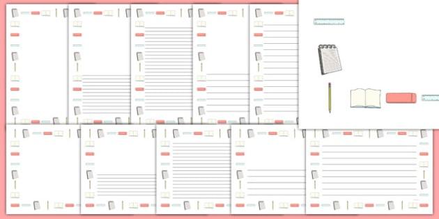 English Writing Page Borders - english, write, borders, literacy