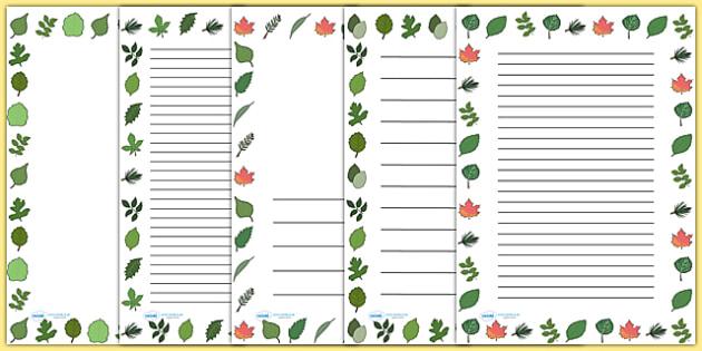 Leaf Page Borders - leaf, leaves, plants, flowers, borders, page