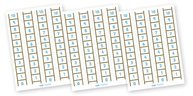 Number Ladder (0-10) - education, home school, free, learning