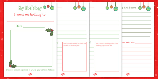 My Christmas Holiday Booklet - christmas, holiday, booklet, christmas holiday