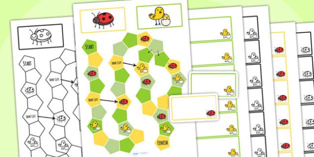 Spring Themed Editable Board Game - spring, seasons, board game