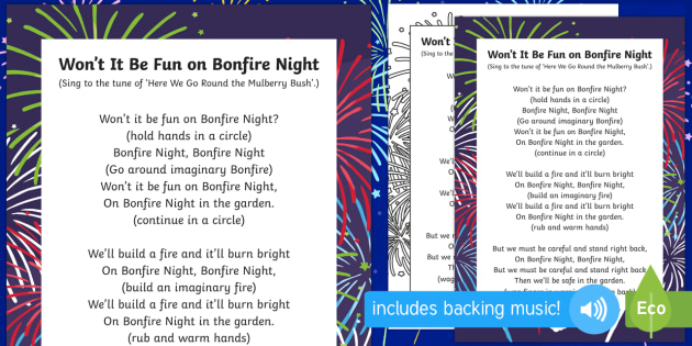 Wont It Be Fun On Bonfire Night Circle Dance - bonfire night, circle, dance, fun