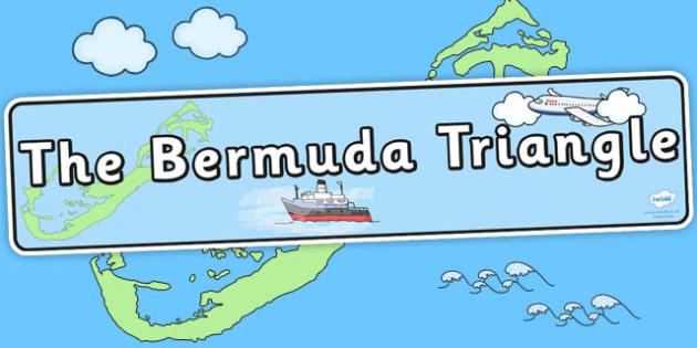 Bermuda Triangle Display Banner - geography display, header