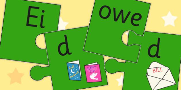 Final D Sound Jigsaw Cut Outs - final, d, sound, jigsaw, cut