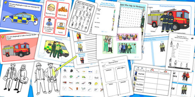 People Who Help Us Activity Pack - classroom activities, games