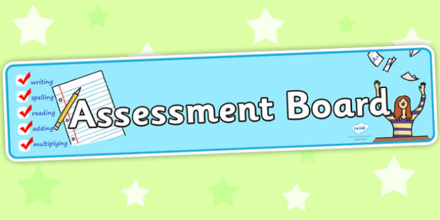 Assessment Board Display Banner - assessment, banner, header