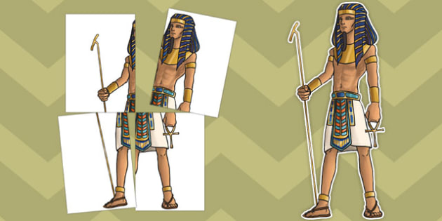 Ancient Egyptian Pharaoh Large Display Cut Out Pack - ancient egyptian, pharaoh