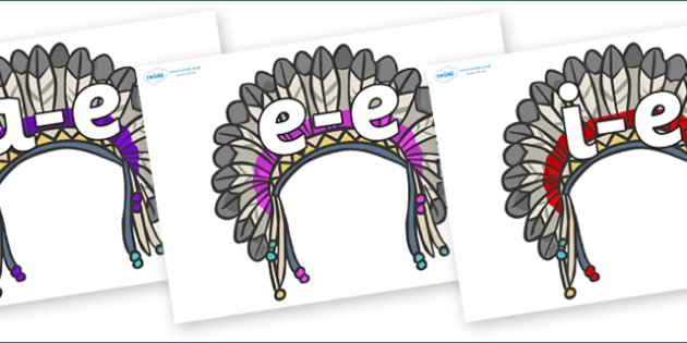 Modifying E Letters on Headdresses - Modifying E, letters, modify, Phase 5, Phase five, alternative spellings for phonemes, DfES letters and Sounds