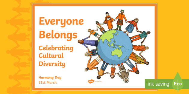 Australia Harmony Day with Alternative Earth Poster - australia, harmony day, earth, acceptance, culture, diversity