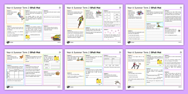 Year 6 Summer Term 2 SPaG Activity Mats