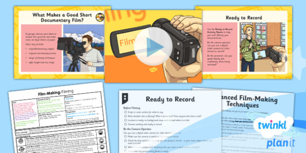 Computing: Film-Making: Filming Year 6 Lesson Pack 3