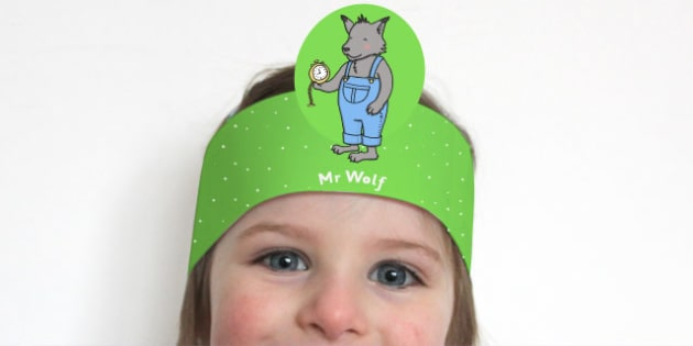 Role Play Headband to Support Teaching on What's The Time, Mr Wolf? - role play, headband