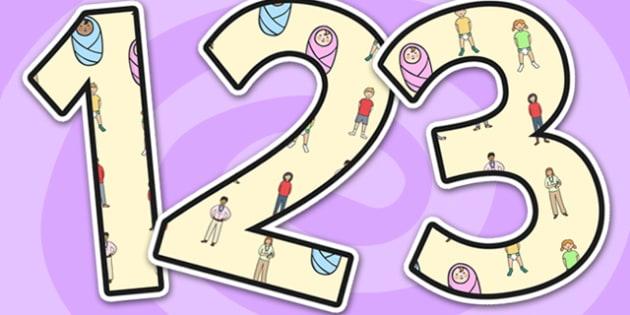 Changes Display Numbers-changes, display, numbers, numbers for display, changes themed numbers, display numbers, changes numbers, numeracy, maths