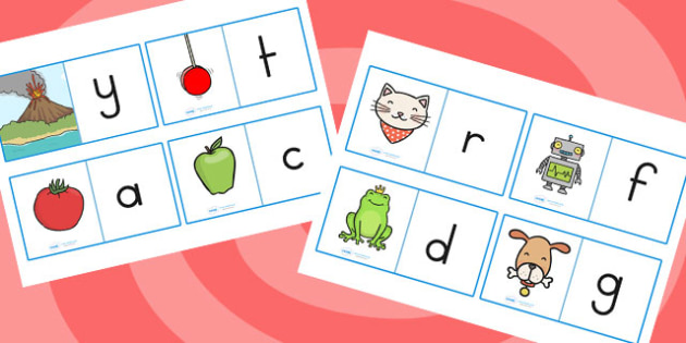 Initial Sound Loop Cards - initial sound, loop cards, literacy