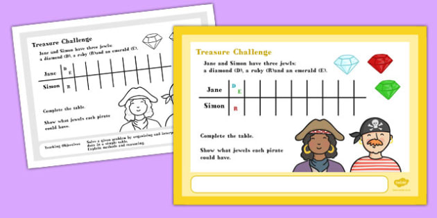 A4 Treasure Maths Challenge Poster - Posters, Displays, Display