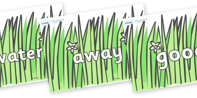 Next 200 Common Words on Wavy Grass - Next 200 Common Words on  - DfES Letters and Sounds, Letters and Sounds, Letters and sounds words, Common words, 200 common words