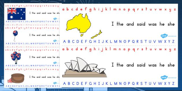 Australia Day Alphabet Strip - australia, alphabet, strip, day