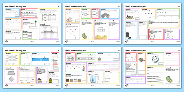 Year 2 Summer 2 Maths Activity Mats