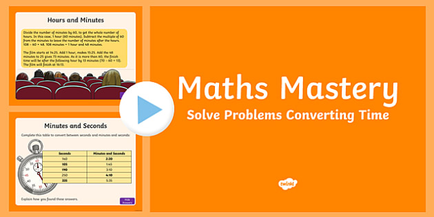 Year 5 Measurement Solve Problems Converting Time Maths Mastery PowerPoint