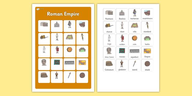 Roman Empire Vocabulary Matching Mat - roman empire, vocabulary, matching mat, word mat, vocabulary mat, vocab mat, keyword, key word mat, romans