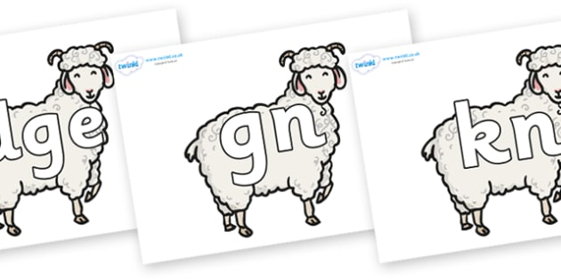Silent Letters on Small Billy Goats - Silent Letters, silent letter, letter blend, consonant, consonants, digraph, trigraph, A-Z letters, literacy, alphabet, letters, alternative sounds