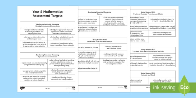 Curriculum for Wales Year 5 Mathematics Targets Assessment Pack - Back to school resources, Maths, Assessment, Wales, Welsh, Welsh Assessment, Year 5.,Welsh