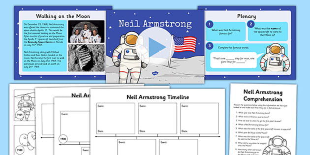 Neil Armstrong Lesson Teaching Pack - space, planets, lessons