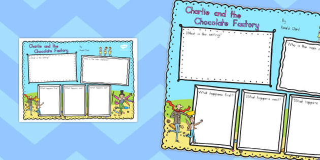 Book Review Writing Frame to Support Teaching on Charlie and the Chocolate Factory - australia