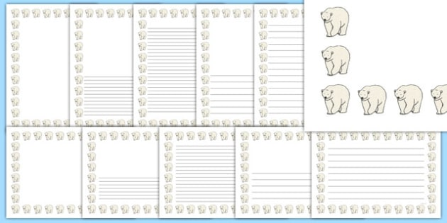 Polar Bear Page Borders - polar bear, page borders, page, borders, arctic, animals