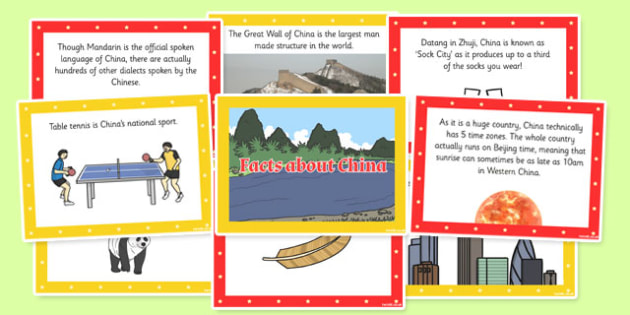China Display Fact Cards - china, display, fact cards, fact, card