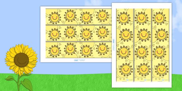Sun Themed Display Borders - Sun, seaside, summer, Display border, classroom border, border, water, tide, waves, sand, beach, sea, sun, holiday, coast