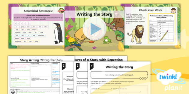 Animals: Dear Zoo: Story Writing 2 Y1 Lesson Pack To Support Teaching on 'Dear Zoo' - Stories with repeating parts, mini topic, safari, whole class guided reading, minibeasts