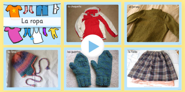 Clothing Photo PowerPoint Spanish - spanish, clothing, photo powerpoint, clothing photos, clothing images, clothing powerpoint, clothing images, clothing powerpoint