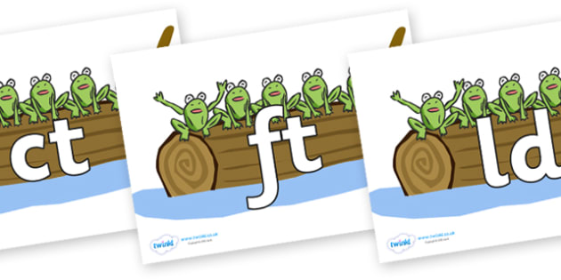 Final Letter Blends on Five Speckled Frogs - Final Letters, final letter, letter blend, letter blends, consonant, consonants, digraph, trigraph, literacy, alphabet, letters, foundation stage literacy