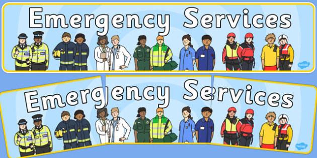 Emergency Services Display Banner - emergency services, display banner, display, banner