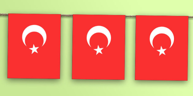 Turkey Flag Bunting - nation, international, geography, culture, display, europe, olympics