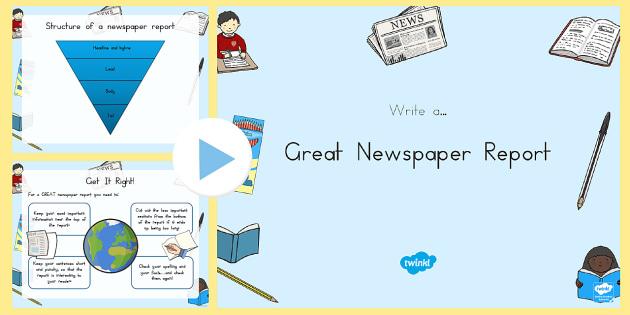 Newspaper Writing Tips PowerPoint - australia, newspaper, writing