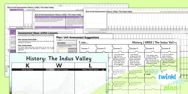 History: The Indus Valley Civilisation UKS2 Unit Assessment Pack