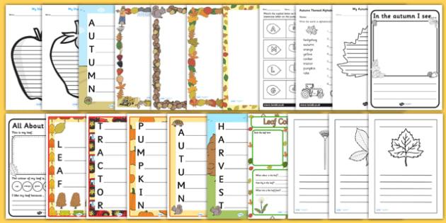 Autumn Themed Writing Activity Pack - writing aid, write, seasons